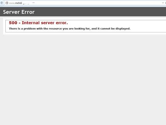 Website panel 500 server error
