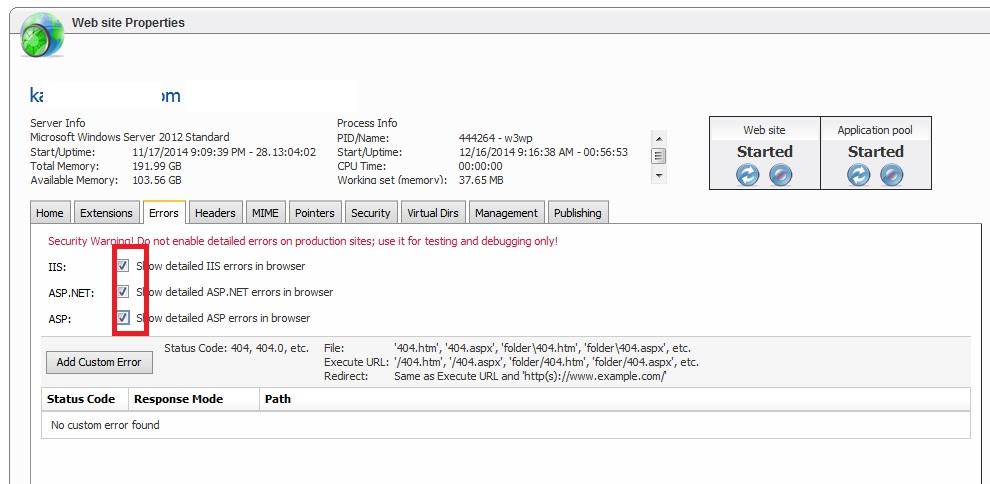 نمایش خطاهای برنامه نویسی در وب سایت پنل