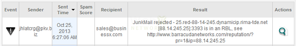 Email-Rejected-by-RBL