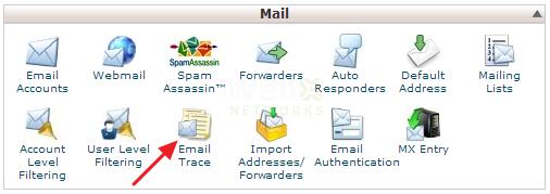 گذینه Email-Trace در سی پنل