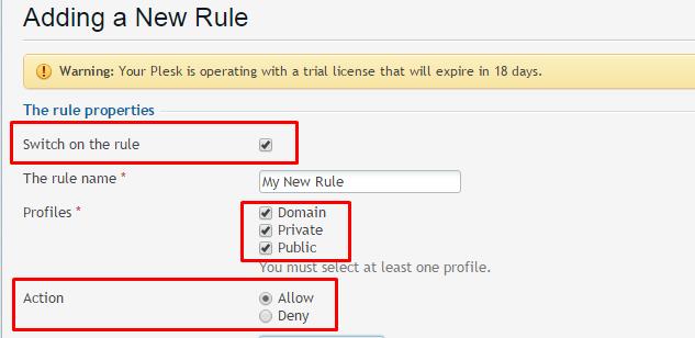 firewall rules in plesk