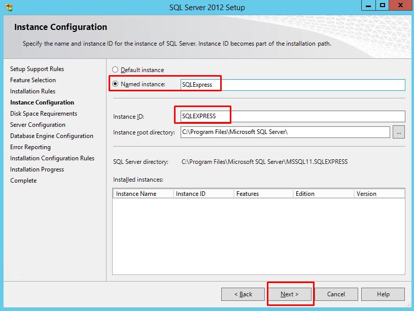 instal sql server 2012