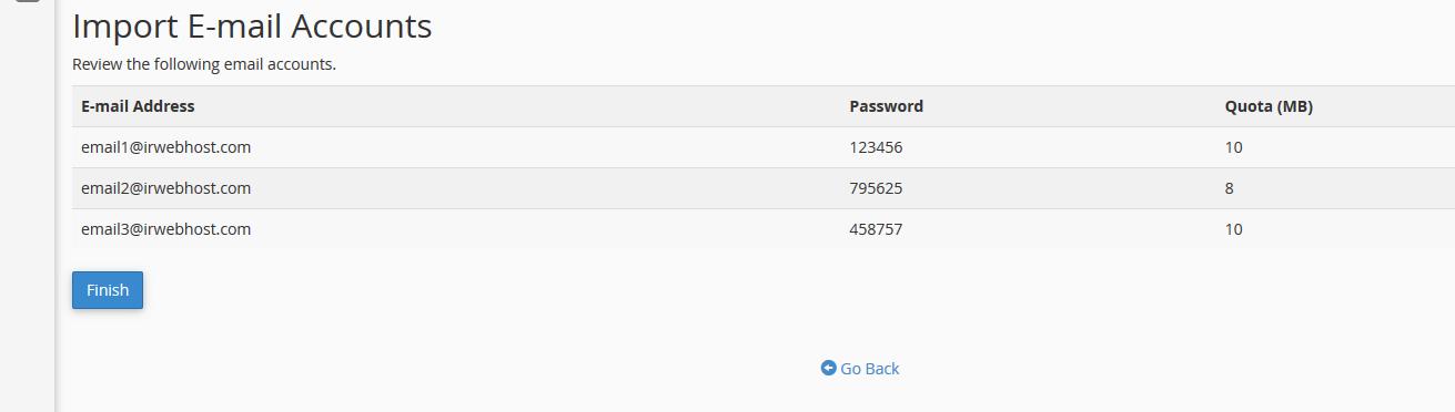 address importer 07 - افزودن لیستی ایمیل آدرس ها در سی پنل (Import)