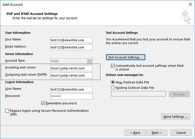 تنظیم SSL در Outlook