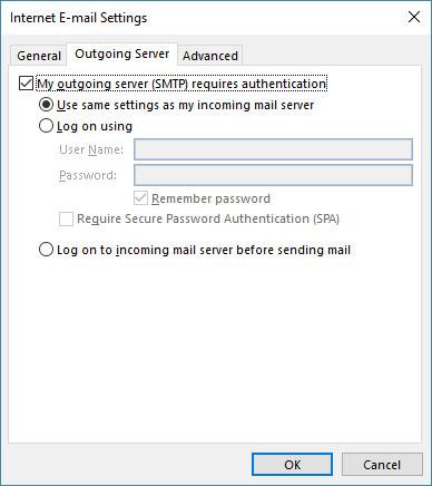 تنظیم Outlook با SSL